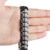 Energy Sports Black Pure Copper Magnetic Bracelet Men Magnet Health Bracelets 2019Pain Relief for Arthritis and Carpal Tunnel