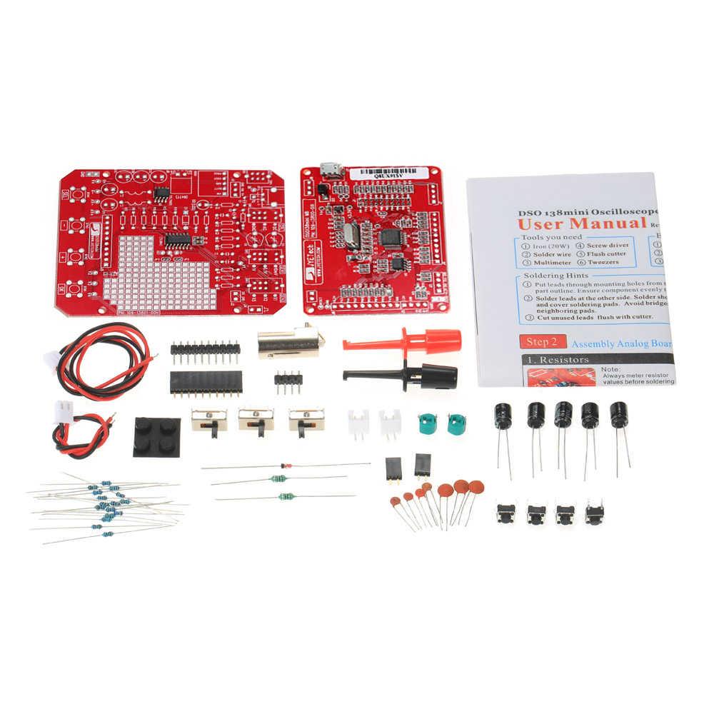 JYE Tech DSO138 Мини цифровой осциллограф DIY Kit SMD части логического анализатора предварительно припаянный электронный Обучающий набор 1MSa/s 0-200 кГц