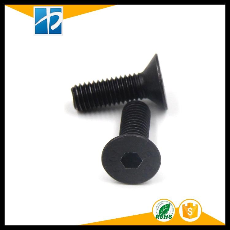 (50 pc/lot) M2,M2.5,M3,M4 *L =4~50mm black oxide grade 10.9 class DIN7991 alloy steel Hex socket flat head CSK screw m3 titanium screw kit 9 size 90pcs m3 hex socket flat head screw din7991 titanium bolt super light screws 5mm 20mm