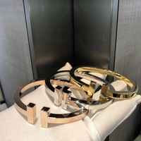 Hot luxury brand jewelry heavy big letter bracelet bangles