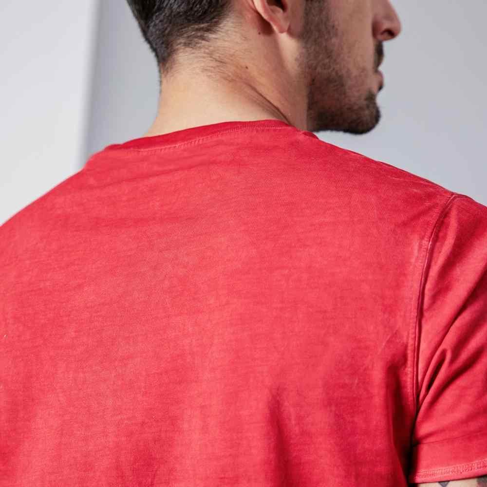 SIMWOOD verano nueva letra impresa camiseta hombres vintage lavado Camiseta 100% algodón moda 2019 top talla grande ropa de marca 190261