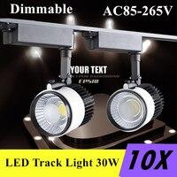 LED Track Light 30W Dimmable COB Rail Lights Spotlight Replace 300W Halogen Lamp Clothing Shop Shoe Shop 110V 220V