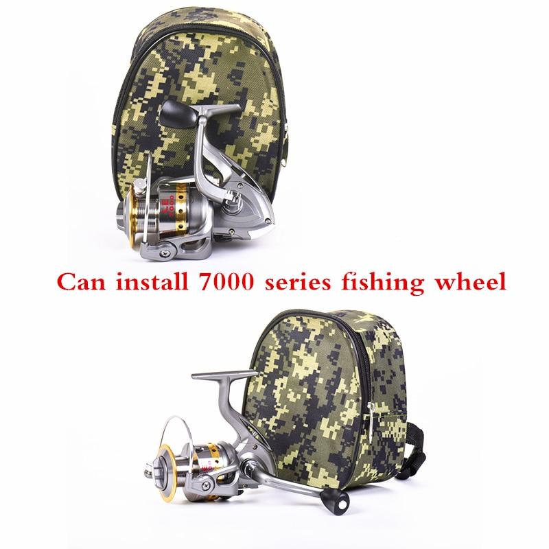 66g Camouflage Fishing Reel Bags Oxford 18*15*8cm Fishing Lure Line Reel Bags Portable 1 Layer Fishing Wheel Reel Storage Bags|Fishing Bags| |  - title=