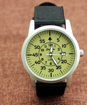 10pcs/lot Wholesales Hot Sales 6colors Casual Calendar Watch Men Nylon Watch Tide High School Students Outdoor Sports Watch