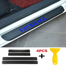 4pcs/set Car Door Window Protector Sticker Carbon Fiber Vinyl for VAUXHALL