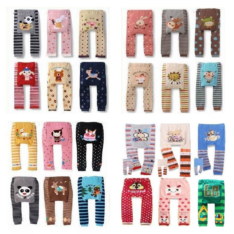 Animal Baby Girls Long Pants Newborn Leggings Babies PP Pants 100% Cotton Baby Clothes Bebe Roupas