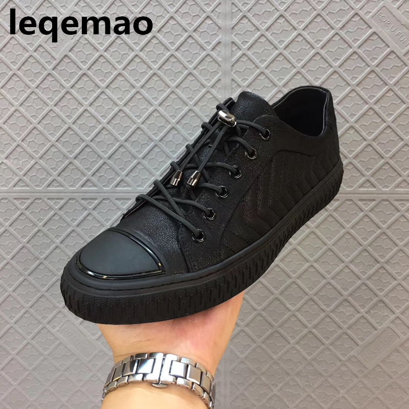 New Arrival Men Shoes Boat Basic Genuine Leather Lace Up Luxury Brand Spring Autumn Trainers Men Owen Shoes Flats Black 38-44 men shoes wedding dress italian style men oxford genuine leather lace up black flats shoes luxury brand shoes sapatos homens