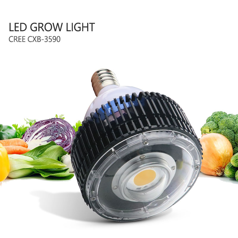 купить CREE COB E27 LED Grow Light,CREE CXB3590 100W Full Spectrum LED Plant Grow Lights with Glass Lens Without Fan for Indoor Plants по цене 6935.07 рублей