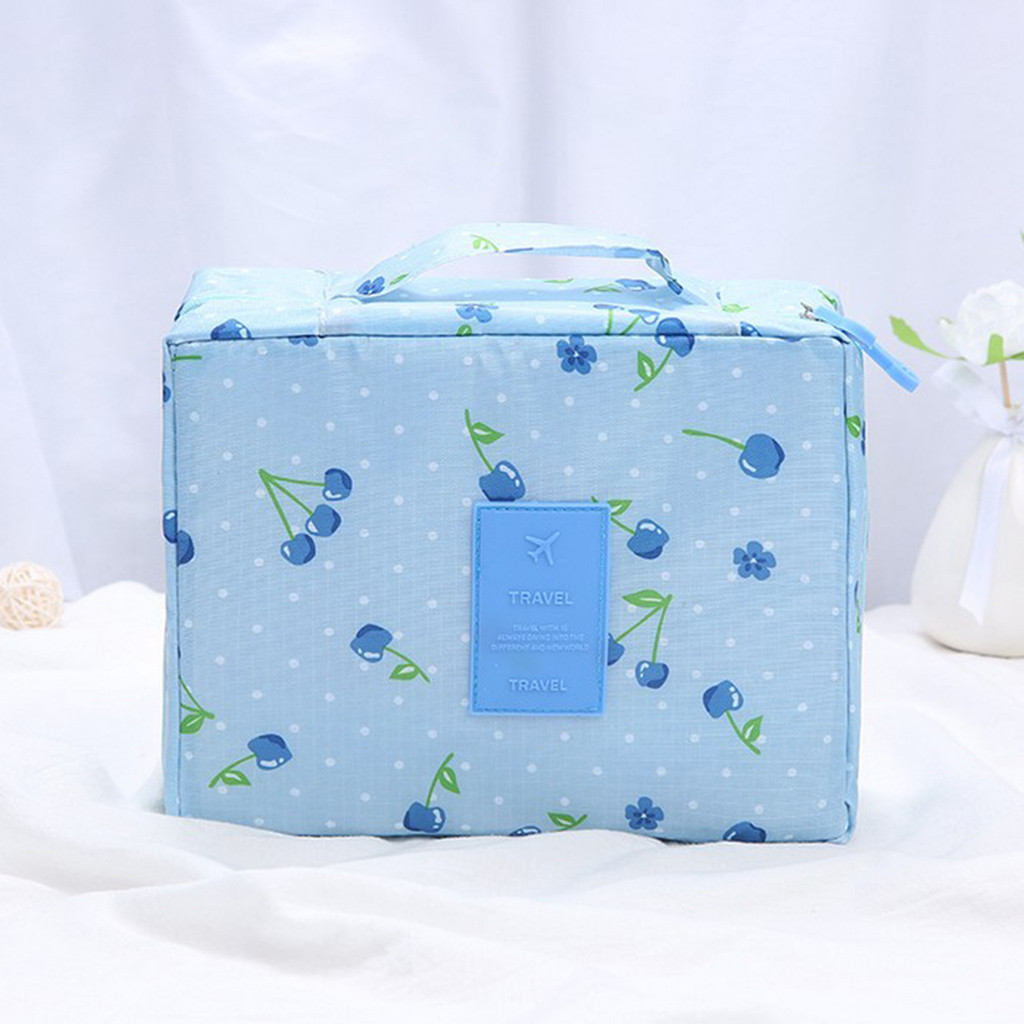 Image 2 - Makeup Storage Bag Travel Wash Bags Multi Functional Cosmetics Bag Multi Purpose Travel Storage Pouch Organizer Storage Box-in Storage Bags from Home & Garden