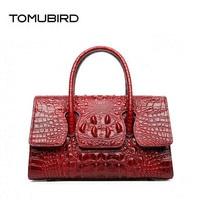 TOMUBIRD 2018 new Cowhide women genuine leather bag designer handbags Crocodile pattern fashion luxury embossing leather big bag