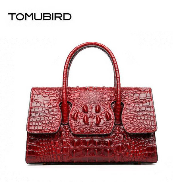 a2bf6359f86 TOMUBIRD 2018 new Cowhide women genuine leather bag designer handbags  Crocodile pattern fashion luxury embossing leather big bag-in Top-Handle  Bags ...