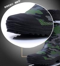 Men's camouflage rubber rain boots fashion fishing hunting waterproof boots for man