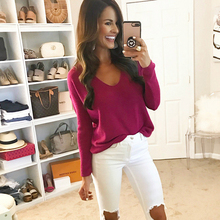 V-neck Off Shoulder Pullover