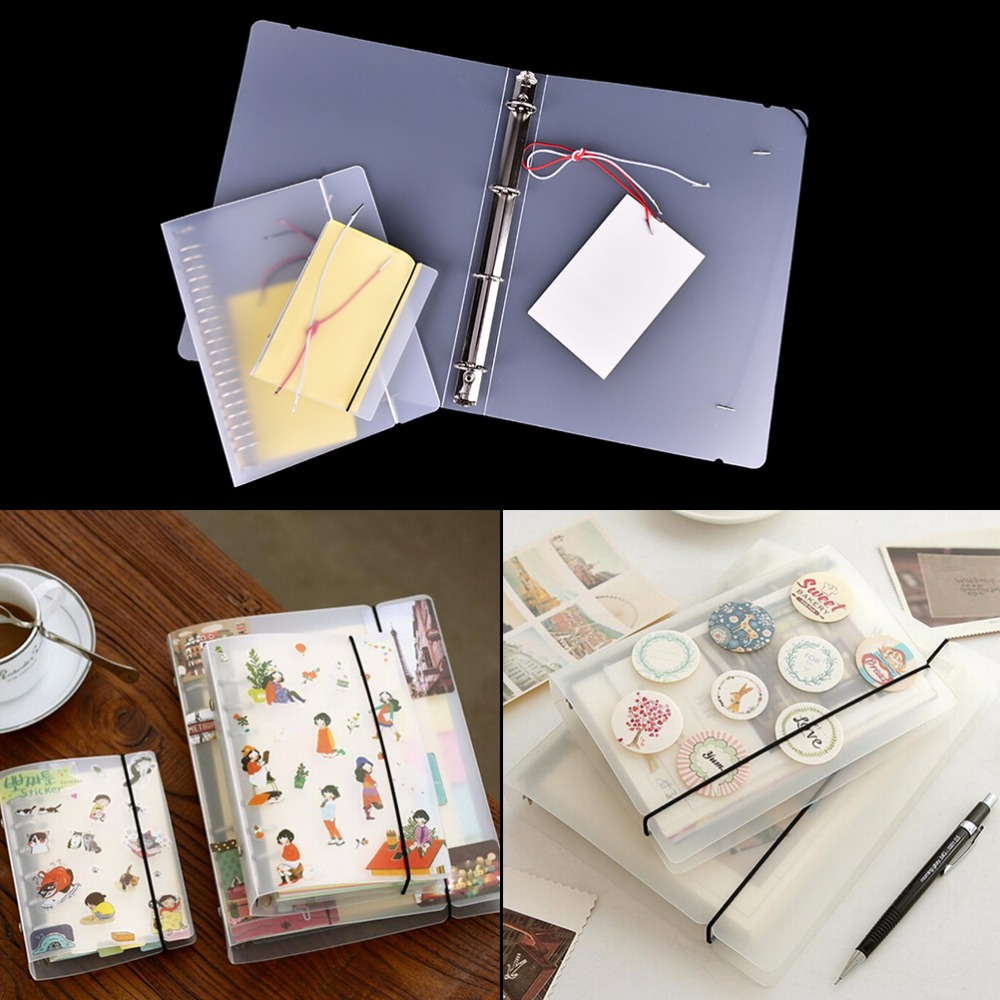 Full Range Of Specifications And Sizes And Great Variety Of Designs And Colors Honest Plastic Clip File Folder Classic Transparent Simple Notebook Loose Leaf Ring Binder Diary Planner Cover Stationery A4 Famous For High Quality Raw Materials