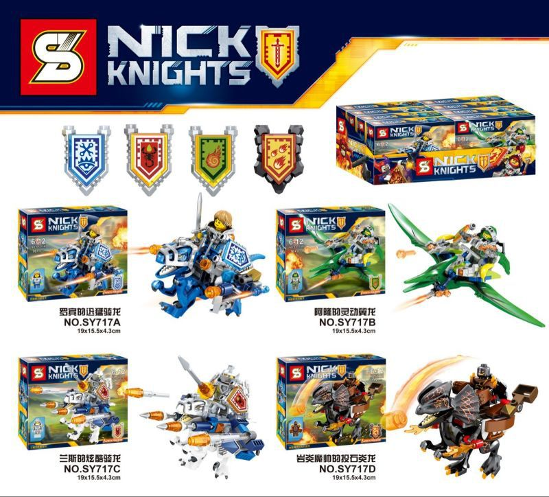 Nexus Knights Castle Knights SY717 figures 4Pcs/set ULTIMATE Clay Macy Beast Master Toys For Children Lepin Building Bricks 12pcs set children kids toys gift mini figures toys little pet animal cat dog lps action figures