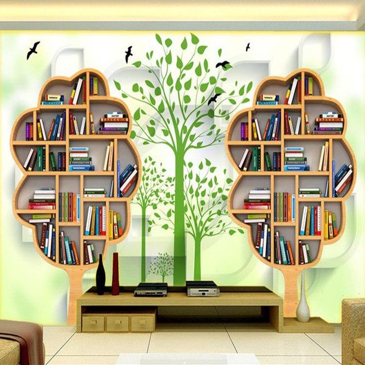 bookshelf background wall decor wood paper murals bed bookcase rolling improvement modern wallpapers