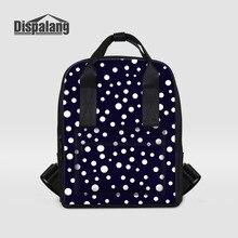 Dispalang в горошек Модные женские рюкзаки большой Ёмкость Леди Повседневная сумка для девочек школьная сумка stras рюкзак для ноутбука