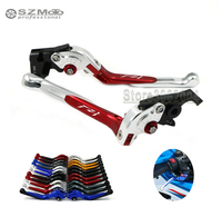 For YAMAHA FZ1 Fazer FZ 1 2006 2013 2012 Front Rear Brake Lever Motorcycle Adjustabale Folding Extendable With Logo Blue Red