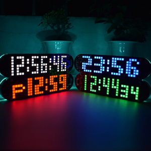 Image 2 - USB تيار مستمر 5 فولت DS3231 عالية الدقة متعددة الوظائف LED نقطة مصفوفة تأثيرات الرسوم المتحركة على مدار الساعة لتقوم بها بنفسك طقم قطع غيار 4 ألوان مع كابل الطاقة USB