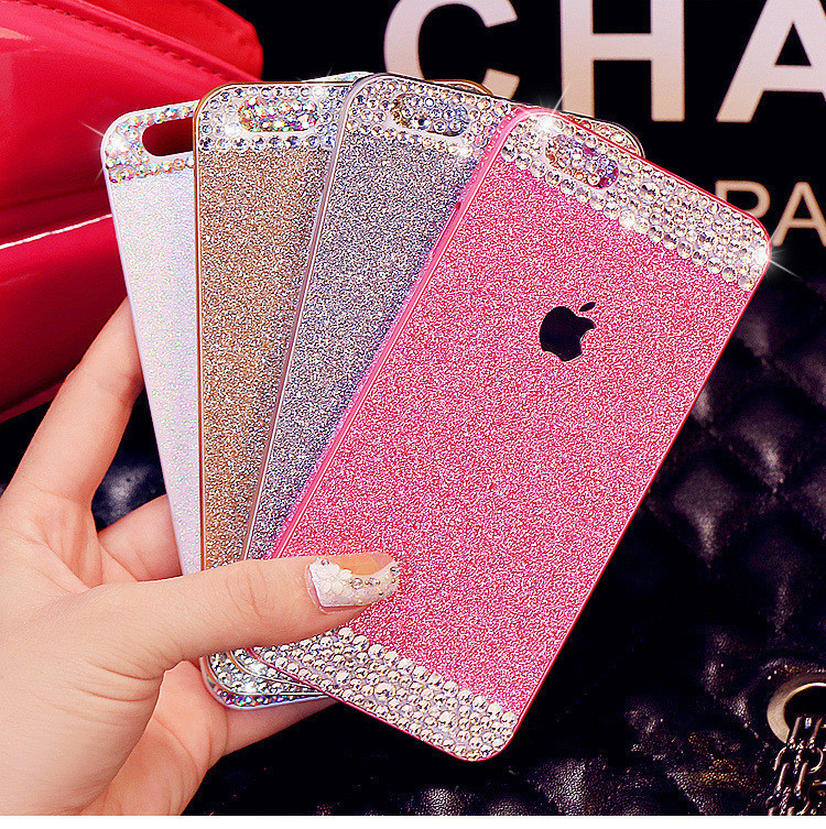 Bling Diamond Rhinestone glitter bling Shinning Hard PC back cover for  iphone 5s 5 For apple iphone 4 4s 5 5s Pink phone case bb1f723d822a