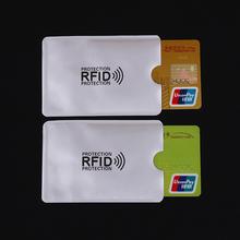 5szt anty RFID blokowanie czytnik blokada karty posiadacz ID karta kredytowa Case RFID ochrona metal karty kredytowej posiadacz aluminium Porte carte tanie tanio Posiadacze kart IDENTYFIKATOROWYCH Metalowe C1804H0 Unisex Z Wizytówka Pole 6 5 cm Bez zamków błyskawicznych 9 1 cm