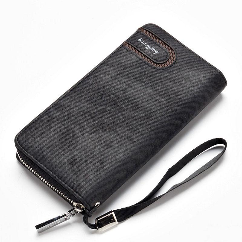Men Wallet Clutch-Bag Purses Card-Holder Cell-Phone-Pocket Coin Money Zipper Male Long