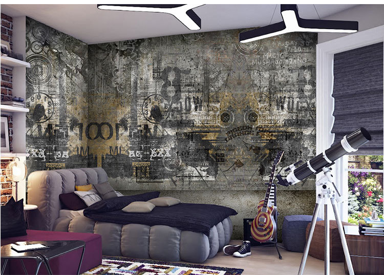 Aliexpress Buy Photo Wallpaper Graffiti European Style Street Art Personality Custom Mural For Living Room From Reliable