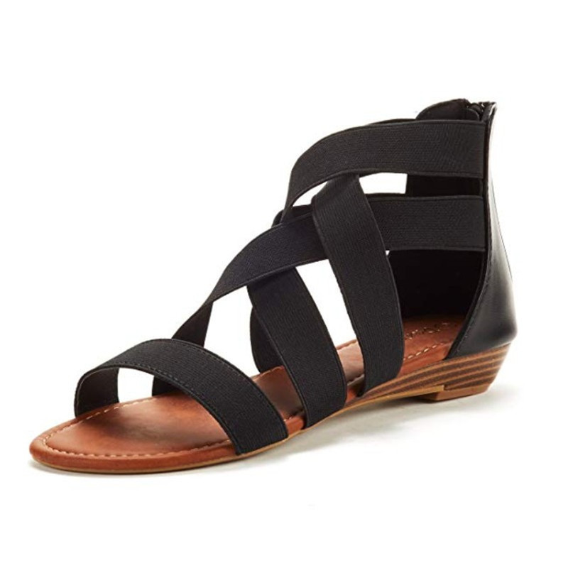 2019 Mode Sandalen Frauen Niedrigen Ferse Anti Schleudern Strand Schuhe Cross Strap Sandalen Peep-toe Sandalen Heißer Frauen Schuhe Sandalia Frauen Schuhe