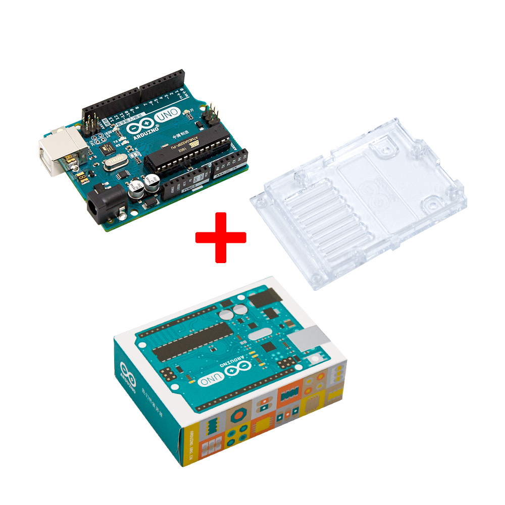 Arduino UNO R3 ATMega328P ATMega328 Official Genuine with Plastic Back shell