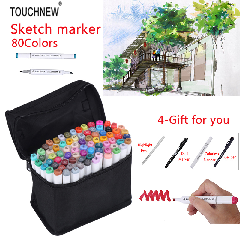 TOUCHNEW 36/48/72/80 Colors Artist Painting Manga Art Marker Set Alcohol Based Best For Drawing Graffiti Design Art Set touchnew art marker 168 colors alcoholic marker artist sketch marker best for drawing manga design art supplies