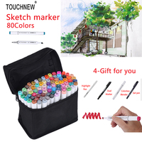 TOUCHNEW 30 48 72 80 Colors Artist Painting Manga Art Marker Set Alcohol Based Best