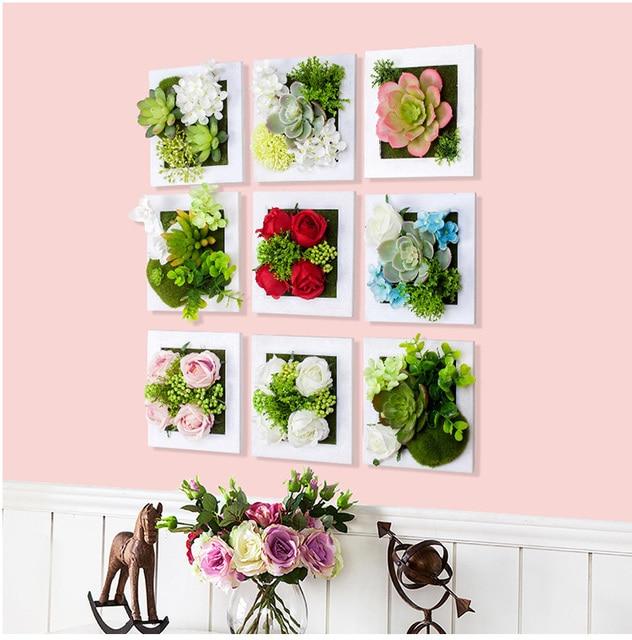 Blumen Bilderrahmen neue metope sukkulenten kunststoff bilderrahmen wand dekoration
