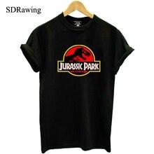 New JURASSIC PARK print cotton T shirt for Women