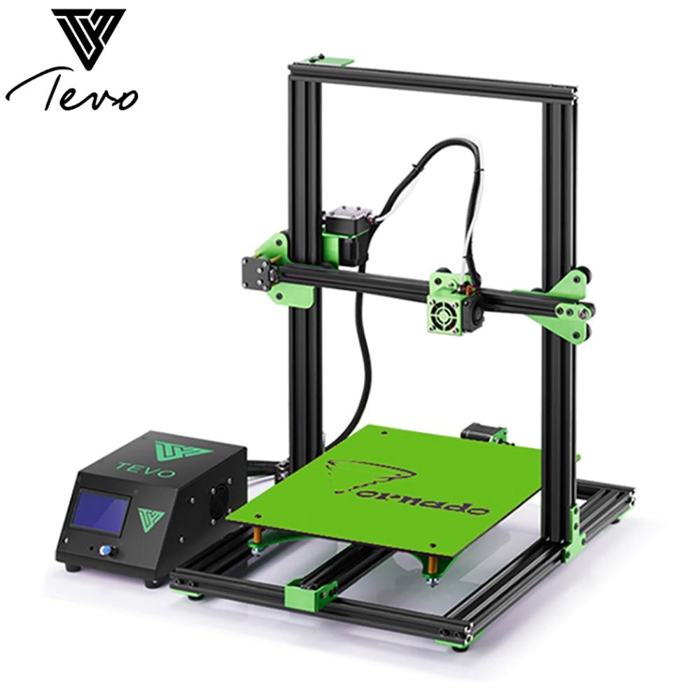 TEVO Tornade Plus Complet Assemblé Cadre En Aluminium 3D Imprimante 300*300*400mm Zone D'impression Grand Titan Extrudeuse 150 mm/S LCD Écran
