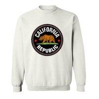 Fashion Summer Style California Republic Bear Flag funny Hoodies Sweatshirts for men