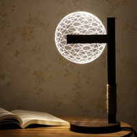 LED Reading Lamp 3D Table Lamp Night Light Adjustable w/ Lampshade 009