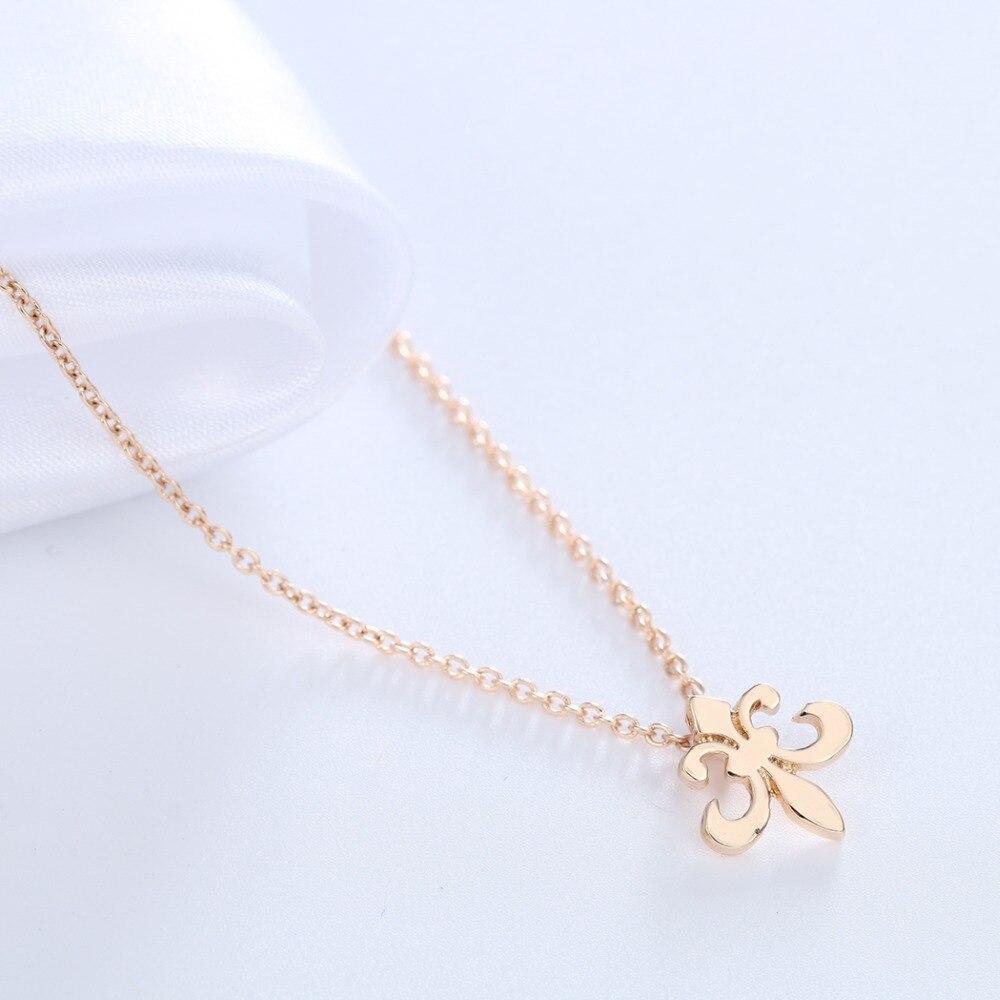 Tiny Hang Upside Fleur De Lis Necklaces Bff Boy Scout Symbol