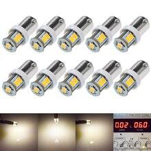 10Pcs 6 V Dc 6 Volt 7SMD Auto Indicator Led Licht Led Lamp Voor Flipperkast BAX9S H6W warm Wit 4300K
