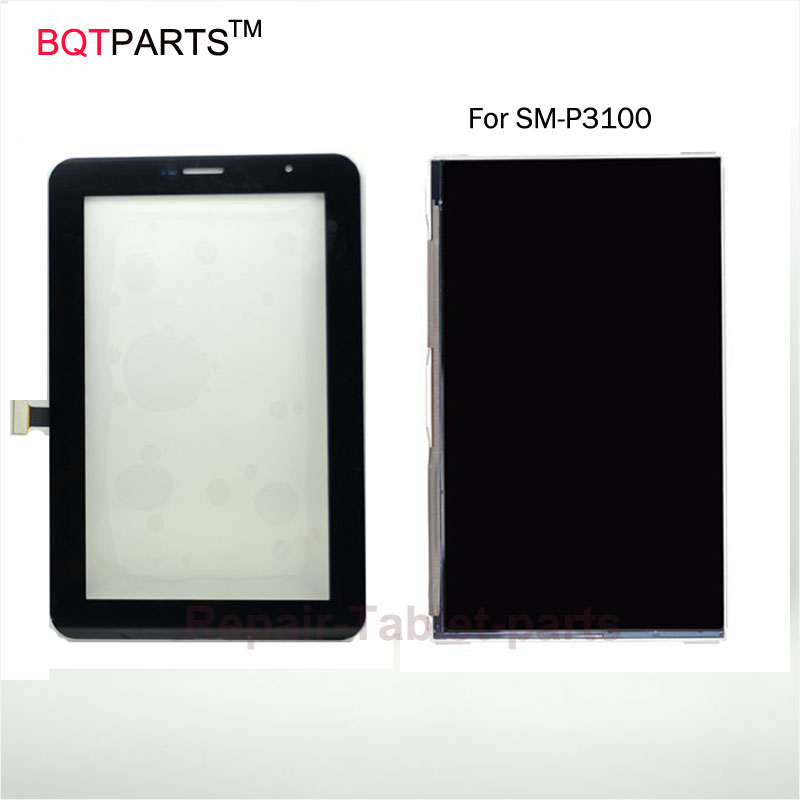 BQT Replacement Lcd Screen Display for Samsung Galaxy Tab 2 7.0 P3100 Touch Screen Digitizer Parts Black / White high quality for samsung galaxy grand neo i9060 i9062 lcd screen display replacement parts 1pc lot