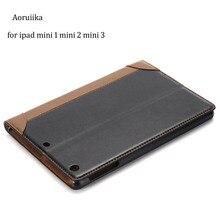 Caso de Cuero de lujo de LA PU para apple ipad mini 2 caso para el ipad mini 3 7.9 pulgadas tablet funda protectora para el ipad mini/2/3 cubierta