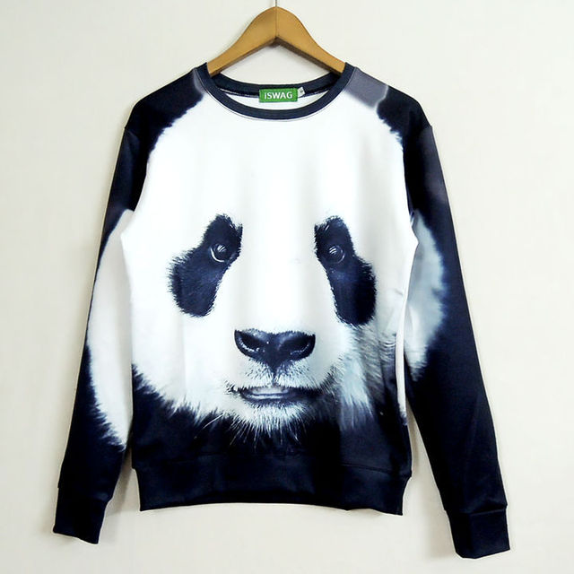 Hot Fashion Unisex Women/Men Sweatshirts 3D Animal panda Sweats Hoodies PANDA Head Sweatshirt Hoodies Pullover