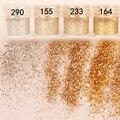 10 ml Champán Mezclado Oro Plata Nail Art Glitter Powder Lentejuelas Súper Polvo M01811