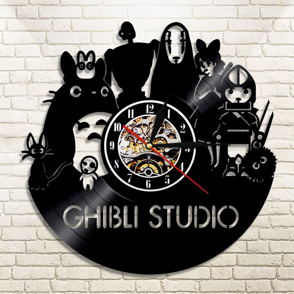 1piece Studio Ghibli Spirited Away Led Silhouette Backlight Light Vinyl Clock Color Change Decor Lp Record Clock With Nightlight In Wall Clocks From Home Garden On Aliexpress