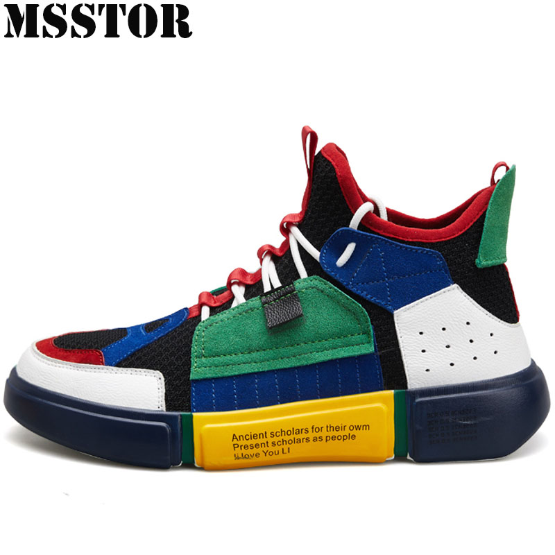 MSSTOR 2018 Men's Running Shoes Man Brand Outdoor Athletic Men Sport Shoes Man Brand Summer Breathable Mesh Mens Sneakers Run