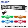 """Oslamp 200 W 22 """"curvo Barra de Luz LED CREE Chips Combo Offroad 4x4 Levou Bar Trabalho levou Luz de Condução para o Caminhão SUV 4WD ATV 12 v 24 v"""