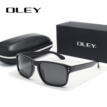 OLEY Classic Polarized Sunglasses Men Glasses Driving Coating Black Fr