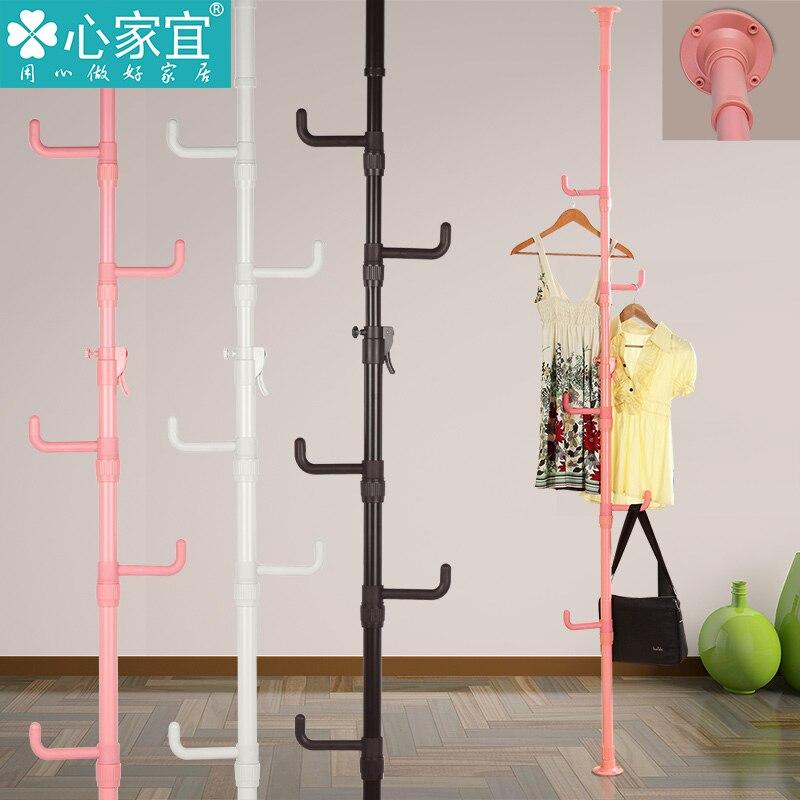 Upright hanger floor bedroom for hanging clothes rack coat - Bedroom furniture for hanging clothes ...