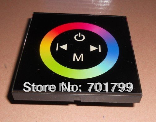 led rgb touch panel controller,DC12-24V input,max 4A*3channel output;TM08