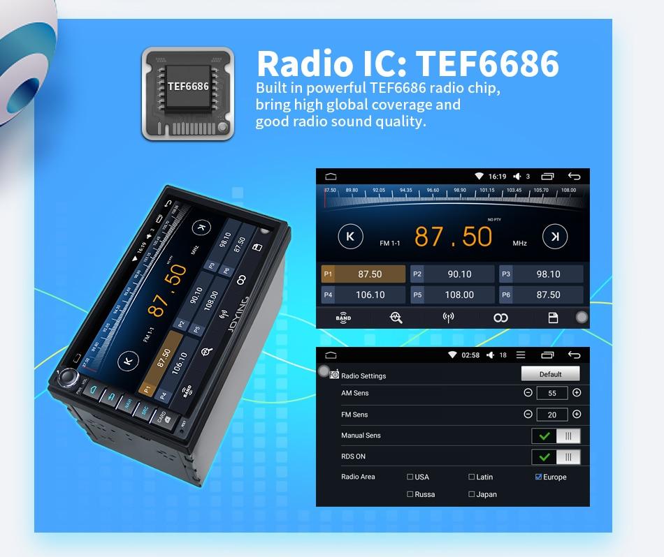 JOYING 2 gb RAM 32 gb ROM Android 8.0 Octa 8 Core Auto Audio Stereo ...