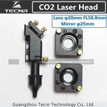 Cabeza DEL laser del CO2 de 20 MM de la lente del laser 50.8 MM y soporte de espejo de 25 MM espejo láser piezas de la máquina